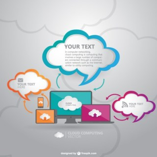 Cloud Computing Technology Free Vector