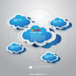 Cloud Computing Template Free Vector