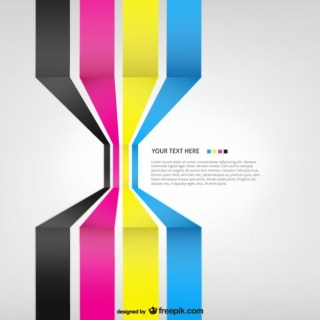 Cmyk 3D Background Template Free Vector