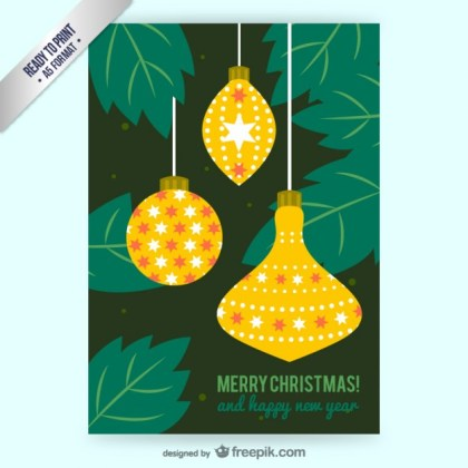 Cmyk Christmas Baubles Free Vector