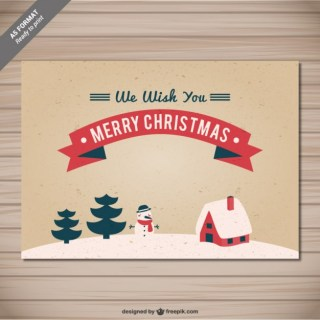 Cmyk Christmas Card with Grunge Texture Free Vector