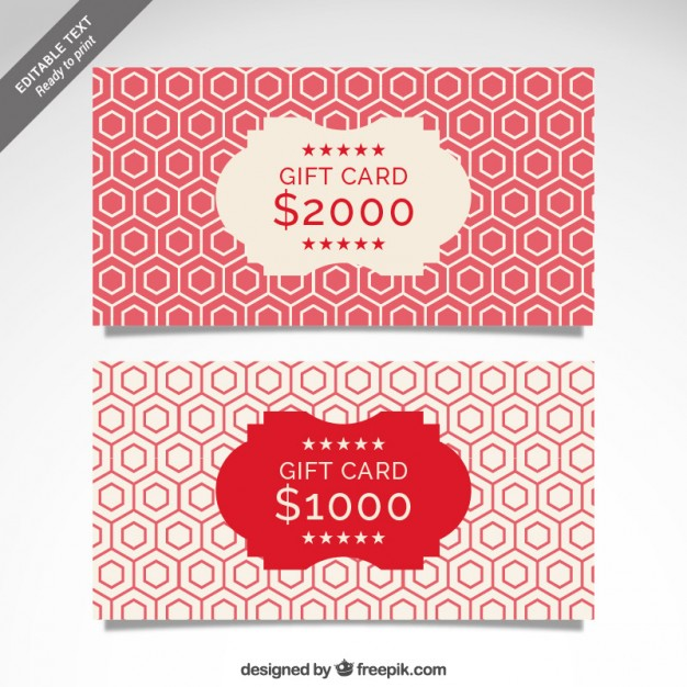 Cmyk Gift Card Template Free Vector