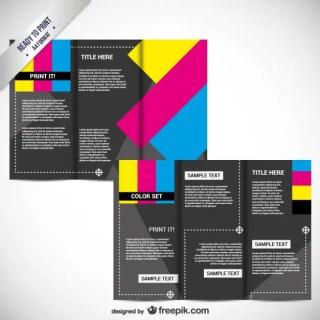 Cmyk Printable Brochure Free Vector