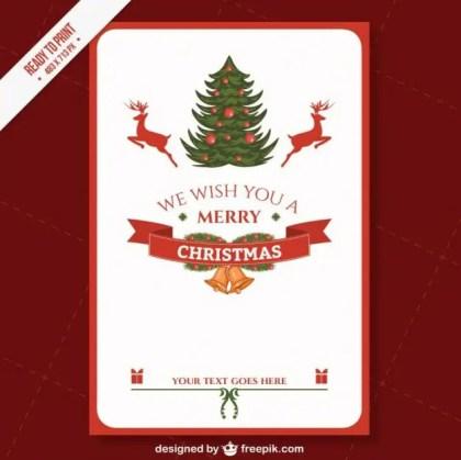 Cmyk Printable Christmas Card Template Free Vector