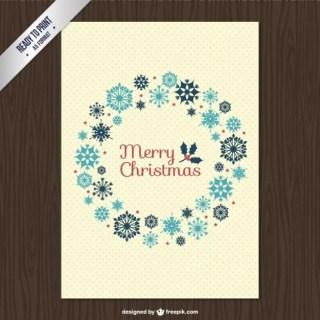 Cmyk Vintage Christmas Card Free Vector