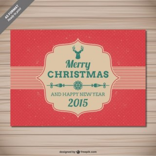 Cmyk Vintage Grunge Christmas Card Free Vector