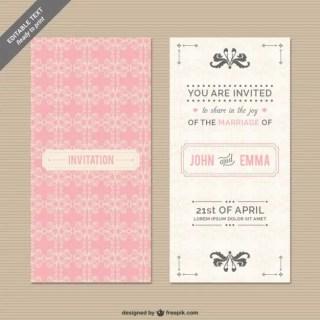 Cmyk Wedding Invitation Free Vector