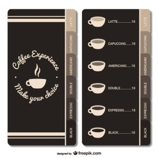 Coffee House Menu Free Vector