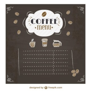 Coffee Menu Chalkboard Design Free Vector
