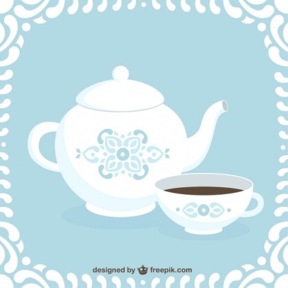 Coffee Pot and Cup Free Vector