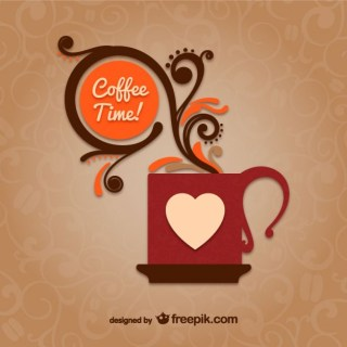Coffee Time with Mug Free Vector
