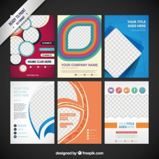 Collection of Flyers Free Vector