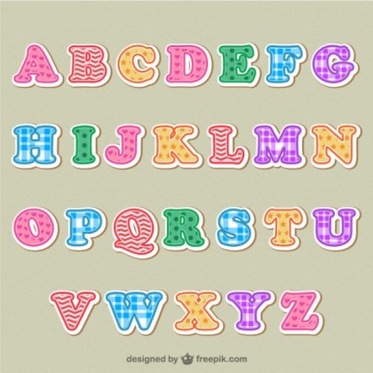 Colorful Alphabet Letters Free Vector