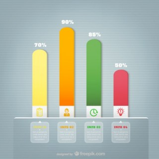 Colorful Bars Chart Free Vector