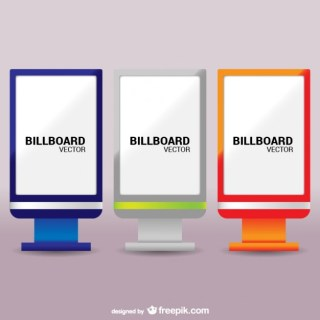 Colorful Billboards Pack Free Vector