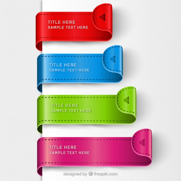 Colorful Bookmark Templates Free Vector