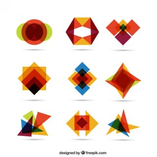 Colorful Geometric Shapes Free Vector