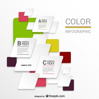 Colorful Infographic Template Free Vector