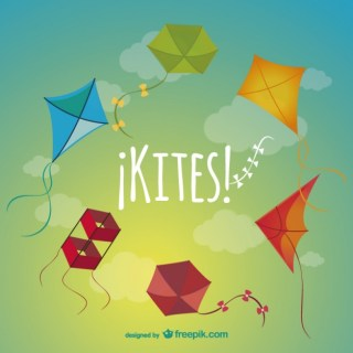 Colorful Kites Pack Free Vector