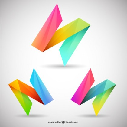 Colorful Logos Free Vector