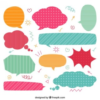 Colorful Speech Bubbles Collection Free Vector