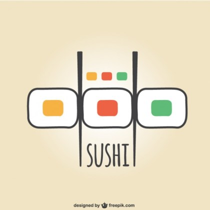Colorful Sushi Logo Free Vector