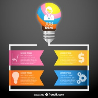 Colorful Work Ideas Infographic Template Free Vector