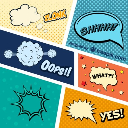 Comic Book Graphic Elements Free Vector