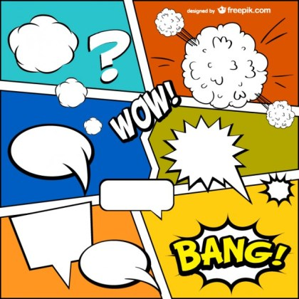 Comic Book Template Free Vector