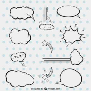 Comic Style Speech Bubbles Free Vector