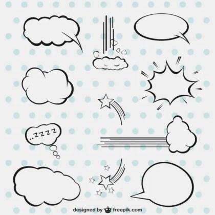 Comic Style Speech Bubbles Free Vector