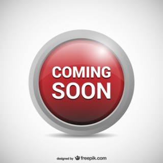 Coming Soon Button Free Vector