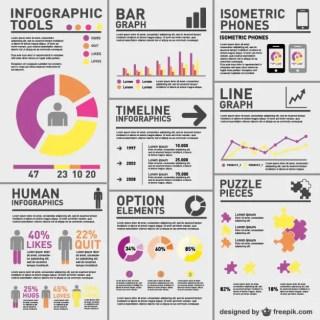 Complex Statistics Infographic Free Vector