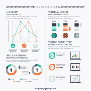 Computer Infographic Tools Free Vector