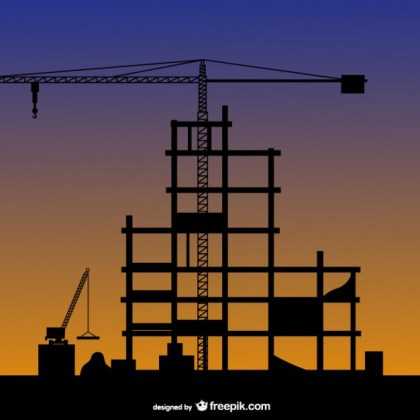 Construction Silhouette Free Vector