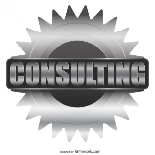 Consulting Label Free Vector