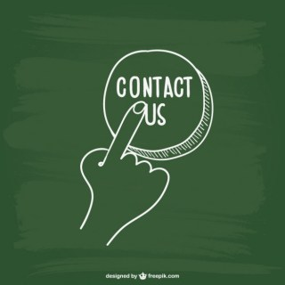 Contact Button Scribble Free Vector