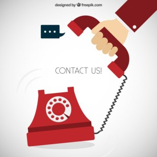 Contact Us Concept Free Vector