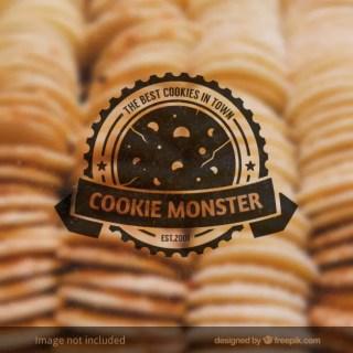 Cookie Monster Badge Free Vector