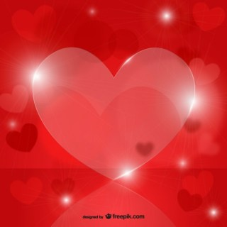 Crystal Hearts Free Vector