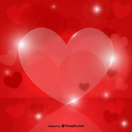 Crystal Hearts Free Vector