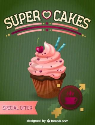 Cupcake Illustration Free Vector