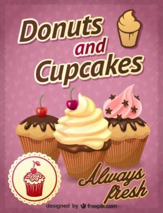 Cupcakes Design Free Vector
