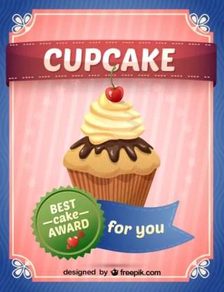 Cupcakes Illustration Free Vector