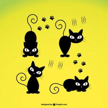 Cute Black Cat Free Vector