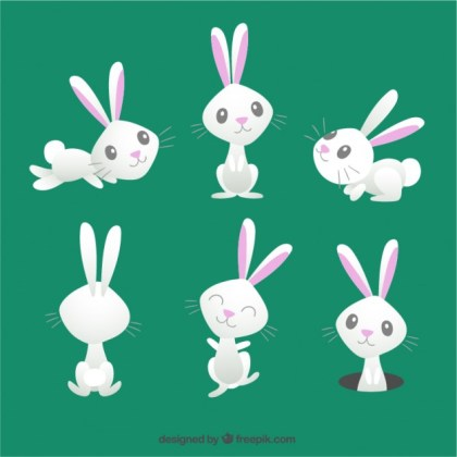 Cute Easter Bunny Free Vector