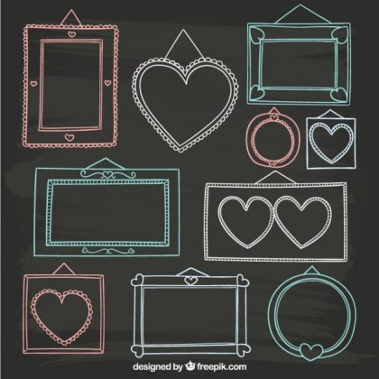 Cute Hand Drawn Frames Free Vector