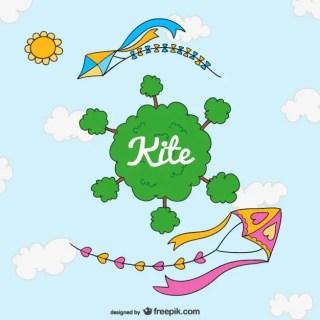 Cute Kite Cartoon Free Vector