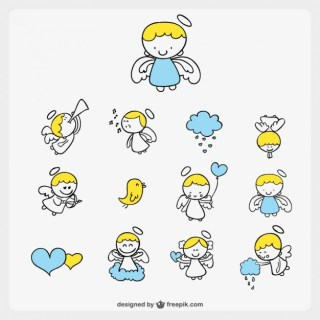Cute Little Angel Cartoon Free Vector