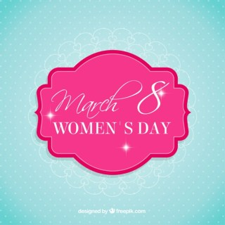 Cute Womens Day Card Free Vector